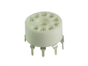 Ceramic tube socket noval for PCB