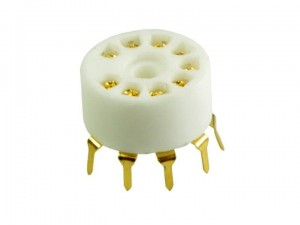 Ceramic tube socket noval Gold for PCB