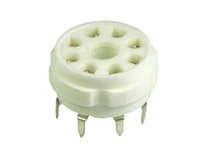 Ceramic tube socket octal for PCB