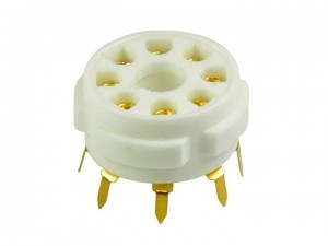 Ceramic tube socket gold octal for PCB