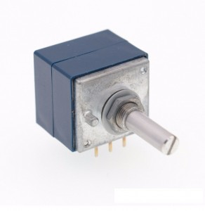 Alps Potentiometer 2x100k Ohm Blue RK27