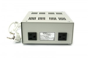 ATSS2000 - 230/110V 2000VA step-down autotransformer (metal housing, 2 outlets) with inrush current limiter